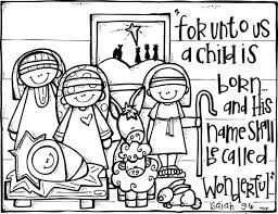 nativity coloring sheets manger scene pages printable colouring