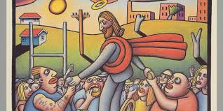 poster u0027mambo faith australian jesus at the football u0027 designed
