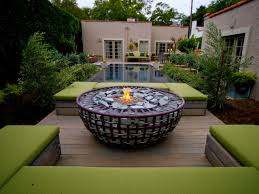 Backyard Themes Outdoor Unique Backyard Fire Pit With Swimming Pool And Square