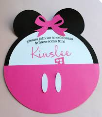 How To Make Minnie Mouse Invitation Cards Photo Mickey Mouse Invitation Diy Image