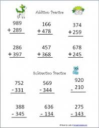 minecraft themed addition worksheets with regrouping u2013 subtraction