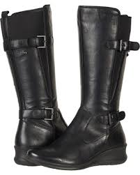 womens boots leather black bargains on ecco babett wedge gtx boot black cow leather