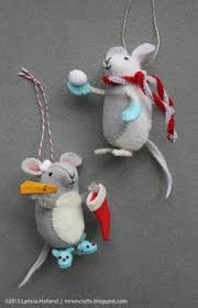 free tutorial felt mice ornaments felt mouse felt and free pattern