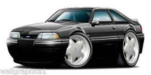 1993 ford mustang 5 0 1993 ford mustang lx 5 0 hatchback fox wall graphic poster