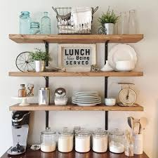 diy kitchen shelving ideas best shelf decor ideas for your kitchen 9480 baytownkitchen