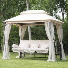 Small Gazebos For Patios by Exterior Large Patio Swing For 3 Person With Gazebo Canopy And