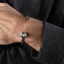 men cuff bracelet images Mens silver cuff bracelet open cuff bracelet for men in jpg
