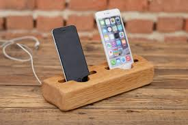 wooden double charging station wooden iphone dock double