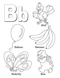 alphabet coloring pages b word printable alphabet coloring pages