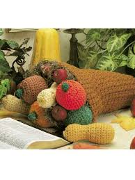 crochet seasonal thanksgiving cornucopia