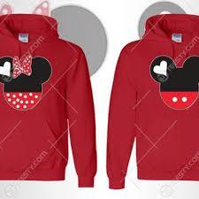 shop mickey minnie couple hoodies wanelo
