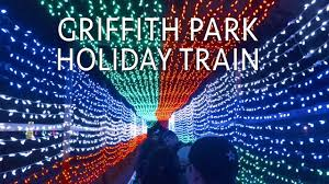 griffith park holiday light festival train griffith park train holiday light festival train ride complete