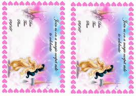 Barbie Birthday Invitation Cards Princess Jasmine Birthday Invitations U2013 Birthday Printable
