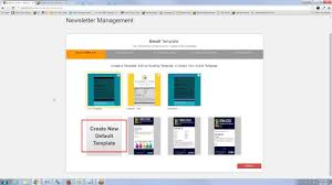 how to create a newsletter template youtube
