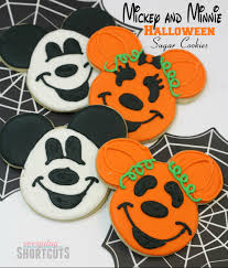 mickey u0026 minnie halloween sugar cookies