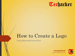 design logo ppt how to create a logo using microsoft powerpoint
