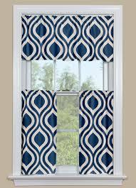 Blue Plaid Kitchen Curtains by Retro Kitchen Curtain In Indigo