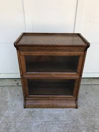 Stickley Bookcase For Sale 3 4 Wide 25 Inch Antique Lawyer Barrister Bookcase For Sale