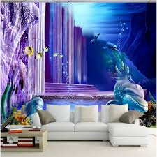 chambre theme espace beibehang papier peint 3d monde sous marin photo thème