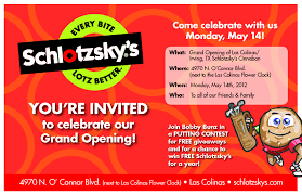 Invitation Card For Grand Opening Grand Opening Schlotzsky U0027s Page 5