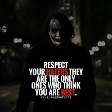 quote jared leto respect your haters must follow thejokersquote thejokersayings
