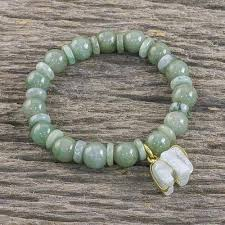 bracelet handmade jewelry images Jade beaded bracelet handmade in thailand with elephant jade jpg