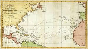 christopher columbus nautical routes map 1828 youtube