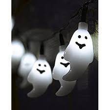 Smart Solar Halloween Ghost String Lights 10 White Led S Amazon Co