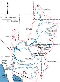 Colorado River On A Map by River Serie 2014
