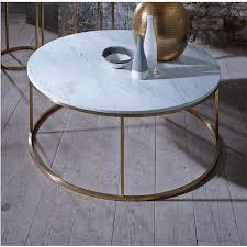 slimline retro circular coffee tables marble walnut and glass