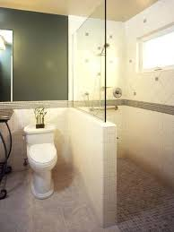 bathroom wall mirror ideas creative bathrooms with half walls
