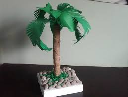 Home Decor Tree Palm Tree How To Make A Paper Palm Tree Diy Home Decor Youtube