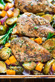 healthy thanksgiving sweet potato recipes chicken skillet with sweet potatoes apples and brussels sprouts