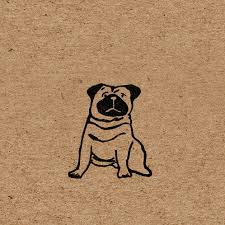 pug wrapping paper pug wrapping paper handprinted on kraft paper by wrapped by