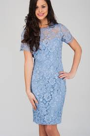 blue lace dress light blue corded lace sleeve dress norman