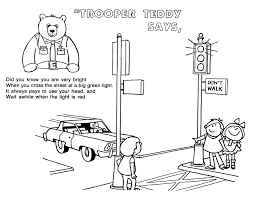 coloring pages safety coloring pages for download free bike