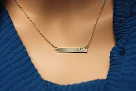 14k gold personalized necklace thin blue line personalized necklace for in