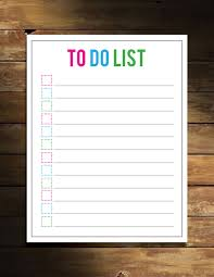 4 best images of task to do list printable free things to do
