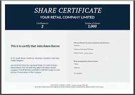 uk share certificate template free share certificate template