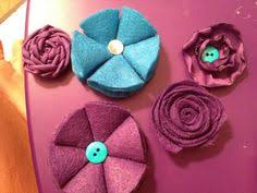 Polyester Flowers - supplies corsage bracelet ribbons and linen flower all from