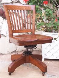 Kissing Chairs Antiques Antique Bankers Oak Rolling Desk Chair 1920s Wood Casters Library