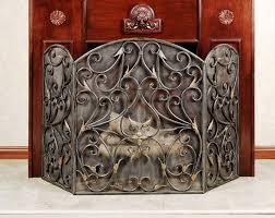 metal decorative fireplace screens with doors home fireplaces