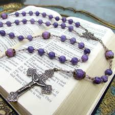 purple rosary purple jasper rosary large