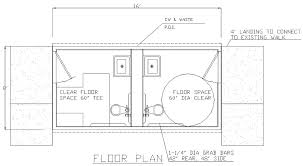 ada floor plans ada bathroom floor plans sebastianwaldejer com