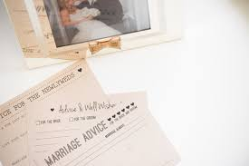 and groom advice cards the bridal boutique marriage advice guest book alternative from
