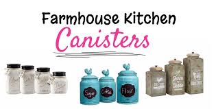 innovative stylish farmhouse kitchen canisters glass canisters
