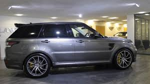 range rover svr black range rover sport svr overfinch grey with black leather lawton