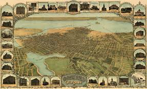Oakland Ca Map Birdseye Map Of Oakland California 1900