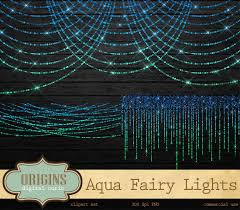 sparkling aqua fairy lights clipart bokeh string lights clip art