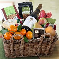 wine and chocolate gift basket napa valley grande white wine and fruit gift basket wa401x a